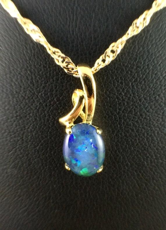 genuine opal necklace pendant jewelry unique australian