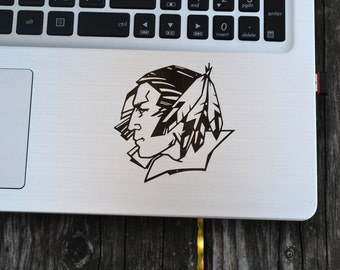 Fighting sioux Decal Sticker, laptop decal, vinyl decals, macbook decal, wall sticker, car decal