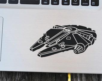 Millennium Falcon Decal, Star Wars decal, vinyl sticker, macbook decal, wall sticker, car decal