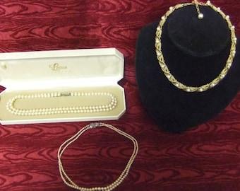 Trio of Vintage Pearl Necklaces