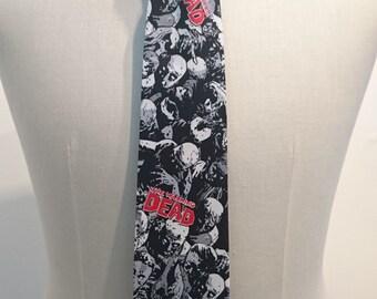 Walking Dead fabric Tie