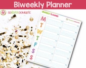 Bi-weekly Printable Planner - Use as a To do list, menu plan, meal planning, water tracker, exercise log, notes, and more