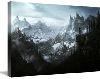 Skyrim Landscape Large A1 Canvas