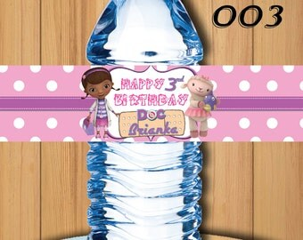 Doc McStuffins Bottle Labels, Doc McStuffins Birthday Party, Doc McStuffins Printables, Doc McStuffins Water Label ,Doc McStuffin Water #003