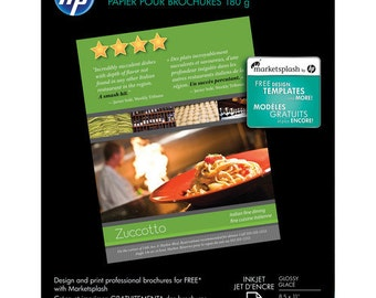 HP Brochure  Flyer Paper 2-sided, Glossy for Inkjet  - 8.5x11  - 50 Sheets  - HP C6817A