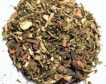 PEPPERMINT CHAI | Herbal Tea | Organic | Artisan Blend | Loose Leaf | Tea Bags | Tea Tin | Iced Tea | Eco-Friendly