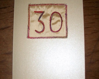 Hand made cards - 30, 40