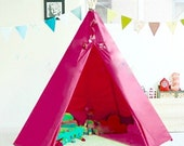 Kids Bright Pink Teepee / Play Tipi Tent