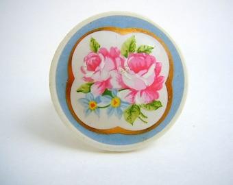 PInk Rose Salvage Ring