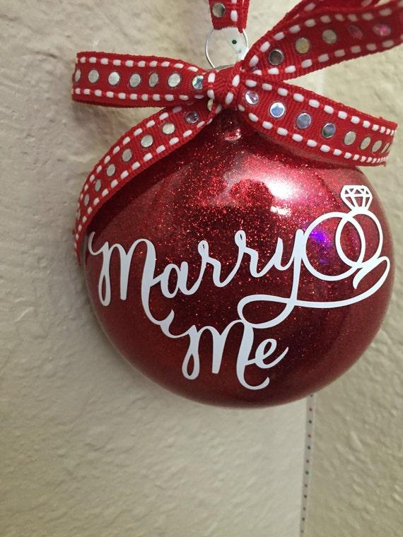Marry me Ornament Wedding proposal Ornament Christmas