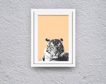 Black and White Tiger Print