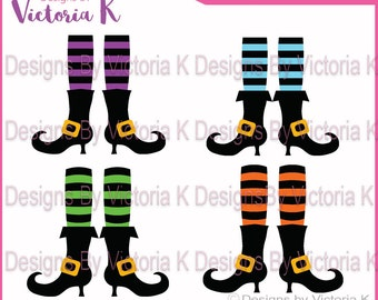 4x Witches Legs, Halloween, Witch, SVG, PNG, EPS Files, Cricut Design Space, Vinyl, Cut Files