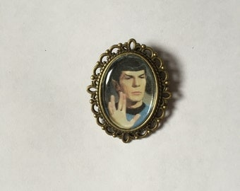 Spock Star Trek Cameo Brooch