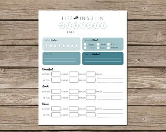 Life with Insulin - Printable Glucose Log