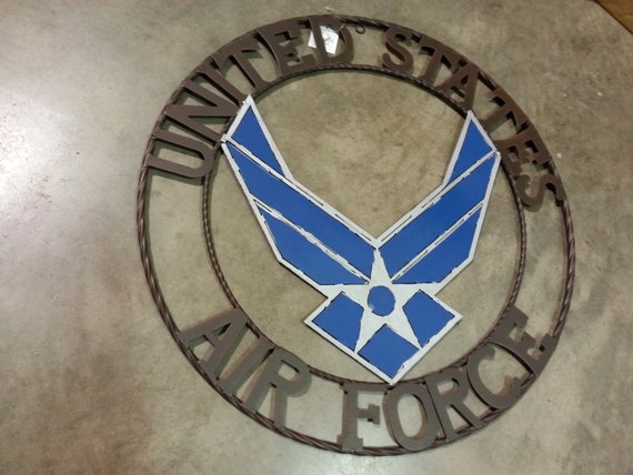 Usaf Wall Decor : Usa airforce military metal wall art western home