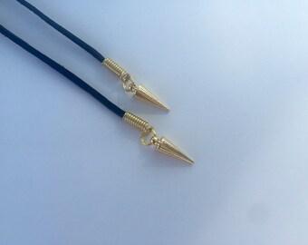 Gold Spike Choker / Spikes Choker / Choker Wrap / Wrap Necklace / Gold Spikes / Spike