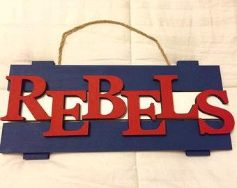 Ole Miss Mississippi Rebels wood sign