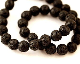 20 PCs lava beads 10 mm