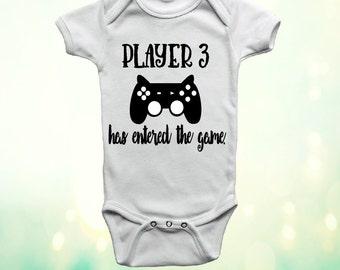 Player 3 Has Entered The Game Onesie, Player 3 Onesie, Gamer Baby Onesie, Gamer Baby Bodysuit, Unisex Baby, Onesie, Gender Neutral Onesie