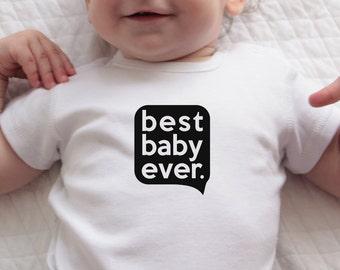 Modern Baby Onesie, Onsie, White Bodysuit, Best Baby Ever Onesie, Black White, Baby Clothes, White Onesie, Gift for Baby, Cute Baby Onesie