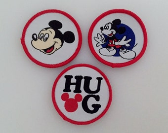 Set of 3 Mickey Mouse Sew-on Patches