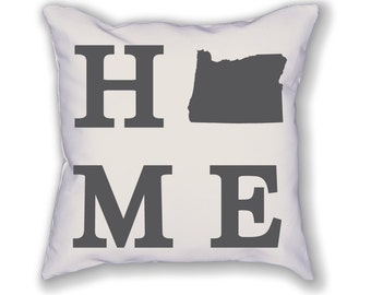 Oregon Home State Pillow