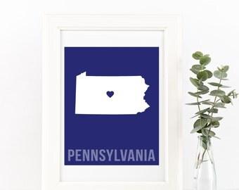 Pennsylvania Home Print – Custom Pennsylvania Print, Pennsylvania Wall Art