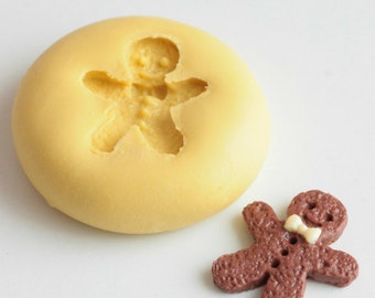 Snowman, gingerbread, Gingerbread Man Christmas silicone mold. Polymer clay, resin, airclay