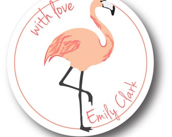 Personalized Gift Stickers_flamingo