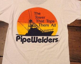Pipe Welders Vintage Ringer T-Shirt (A343)