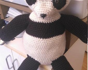 Crocheted Panda/Stuffed Panda/Plush toy/Panda amigurumi