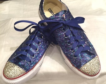 Crystal and glitter Converse