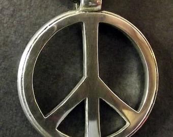Peace Symbol Pendant, Sterling Silver 925