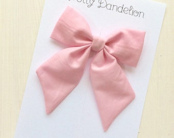 Sailor Bows | Pink Sailor Bows, Girls Sailor Bows, Pale Pink Sailor Bows, Sailor Bow, Pink Hair Bow, Pink Hair Clip, Pink Bows, Pink Bow