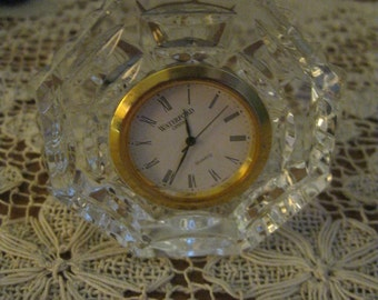 Vintage Waterford Crystal Octagon Quartz Battery Operated Clock! #BV