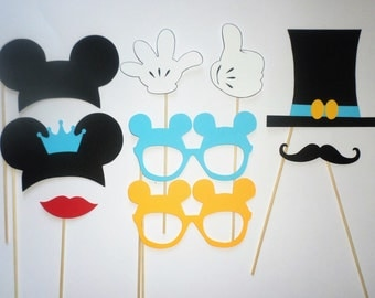 Mickey birthday Mickey Mouse photo booth props Mickey Mouse party Clubhouse décor Disney photo booth props Kids photo booth props