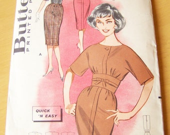 Vintage 1960s Sewing Pattern - Butterick 9303 - Misses' Quick 'N Easy Dress - Size 14, Bust 34 - Classic Vintage Style