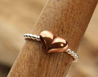 Heart Stacking Ring Sterling Silver