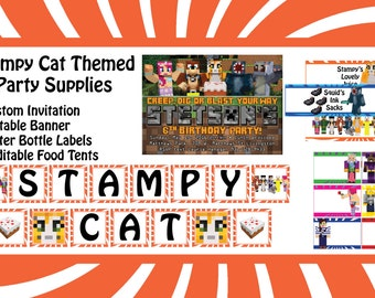 Stampy Cat Themed Party Supplies