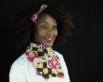 ethnic scarf, col