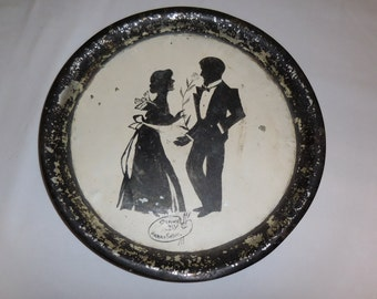 """Vintage tray """"The Courting"""""""