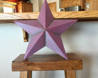 Burgundy tin star