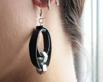 Inner tube earrings and bolts