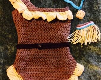 Pocahontas costume (Indian, boho)