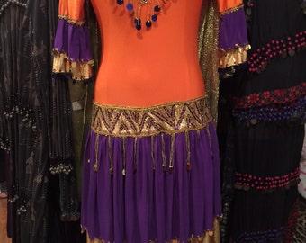 Vintage Hand Made Hagala Dress (Egyptian Folk ) Made In Egypt Last One