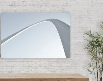 Architecture Photography of St. Louis Arch, Minimalist Print, Digital Download, Wall Art
