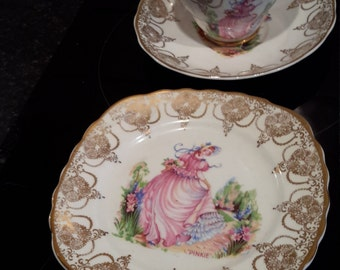 pinkie cup saucer and side plate