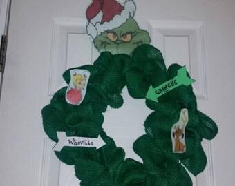 Grinch Wreath