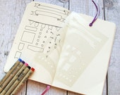 Bullet Journal Stencil Banners, Flags, and General Notations