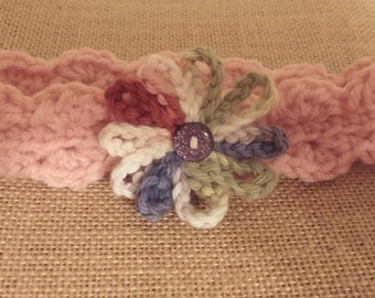 Rose Infant headband/earwarmer